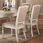 Riverside Furniture Placid Cove Upholstered Side Chair in Honeysuckle White