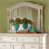Riverside Furniture Placid Cove Arch Landscape Mirror in White