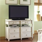 Riverside Furniture Placid Cove Media Chest in Honeysuckle White