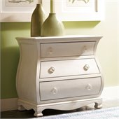 Riverside Furniture Placid Cove Bombe Nightstand in Honeysuckle White