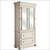 Riverside Furniture Placid Cove Armoire in Honeysuckle White