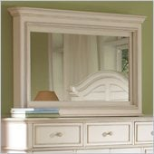 Riverside Furniture Placid Cove Media Mirror in Honeysuckle White