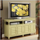 Riverside Furniture Placid Cove Louver TV Console in Seagrass Green