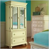 Riverside Furniture Placid Cove Armoire in Segras Green/Honeysuckle White