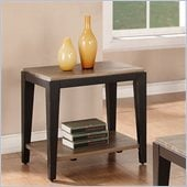 Riverside Furniture Canal Street End Table in Smoky Drftwod/Midnit Blak