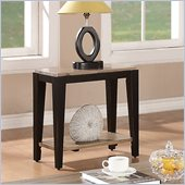 Riverside Furniture Canal Street Chairside Table in Smoky Drftwod/Midnit Blak