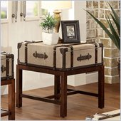 Riverside Furniture Bon Voyage Suitcase End Table in Aged Cognac Wood