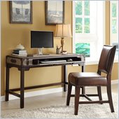 Riverside Furniture Bon Voyage Suitcase Writing Desk in Aged Cognac Wood
