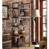 Riverside Furniture Camden Town Etagere Bookcase in Hampton Road Ash