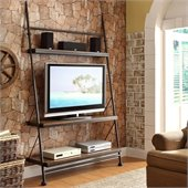 Riverside Furniture Camden Town Leaning TV Stand in Hampton Road Ash
