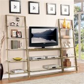 Riverside Furniture Lean Living TV Stand in Smoky Driftwood