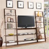 Riverside Furniture Lean Living TV Stand in Burnished Brownstone