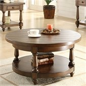 Riverside Furniture Newburgh Round Cocktail Table in Antique Ginger