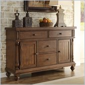 Riverside Furniture Newburgh Buffet in Antique Ginger
