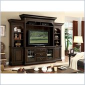 Riverside Furniture Binghamton TV Entertainment Center in Vintage Mocha
