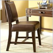 Riverside Furniture Latitudes Desk Chair in Aged Cognac Wood