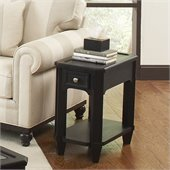 Riverside Furniture Farrington Chairside Table in Black Forrest Birch