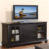 Riverside Furniture Beacon Point 69 Inch TV Console in Pepper Black