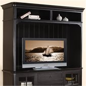 Riverside Furniture Beacon Point Hutch in Pepper Black