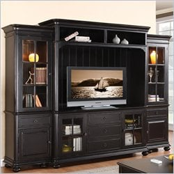 Riverside Furniture Beacon Point TV Entertainment Center in Pepper Black