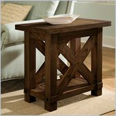 Riverside Furniture Windridge Chairside Table in Sagamore Burnished Ash