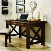 Riverside Furniture Windridge Writing Desk in Sagamore Burnished Ash