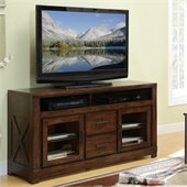 Riverside Furniture Windridge TV Console in Sagamore Burnished Ash