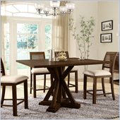 Riverside Furniture Windridge Gathering Height Dining Table in Sagamore Burnished Ash