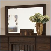 Riverside Furniture Windridge Landscape Mirror in Burnished Ash