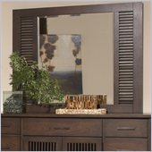 Riverside Furniture Windridge Slat Mirror in Sagamore Burnished Ash