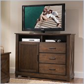 Riverside Furniture Windridge Media Chest in Sagamore Burnished Ash