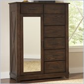 Riverside Furniture Windridge Mirror Door Chest in Sagamore Burnished Ash