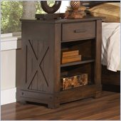 Riverside Furniture Windridge 1 Drawer Nightstand in Sagamore Burnished Ash