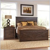 Riverside Furniture Windridge Panel Bed in Sagamore Burnished Ash