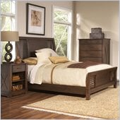 Riverside Furniture Windridge Sleigh  Bed in Sagamore Burnished Ash