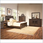 Riverside Furniture Windridge Sleigh  Bed 4 Piece Bedroom Set in Sagamore Burnished Ash