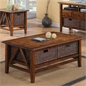 Riverside Furniture Claremont Rectangular Cocktail Table in Toffee