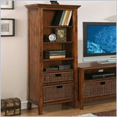 Riverside Furniture Claremont Etagere Bookcase Pier in Toffee