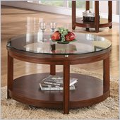 Riverside Furniture Inspiration Retro Round Cocktail Table in Warm Brandy