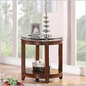 Riverside Furniture Inspiration Retro Round End Table in Warm Brandy