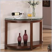 Riverside Furniture Inspiration Retro Demilune Console Table in Warm Brandy