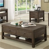 Riverside Furniture Promenade Rectangular Cocktail Table in Warm Cocoa