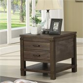 Riverside Furniture Promenade Rectangular End Table in Warm Cocoa