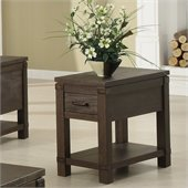 Riverside Furniture Promenade Chairside Table in Warm Cocoa
