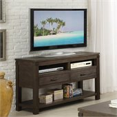 Riverside Furniture Promenade Console Table in Warm Cocoa