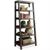 Riverside Furniture Promenade Canted Bookcase in Warm Cocoa