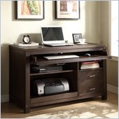 Riverside Furniture Promenade Computer Desk in Warm Cocoa