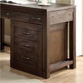 Riverside Furniture Promenade Mobile File Cabinet in Warm Cocoa
