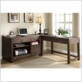 Riverside Furniture Promenade 3 Piece Computer Desk Set in Warm Cocoa