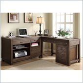 Riverside Furniture Promenade 4 Piece Computer Desk Set in Warm Cocoa